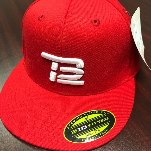 0901d0ab348 NFL Patriots TB12 Tom Brady Red Fitted Cap
